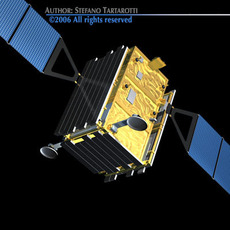 Cosmo-skymed satellite 3D Model
