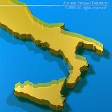 Italy shape 3D Model