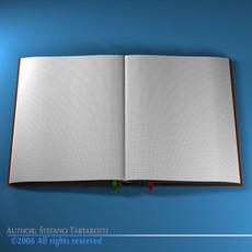 Open book 3D Model