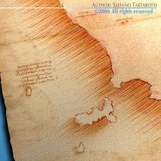 Treasure Map 3D Model