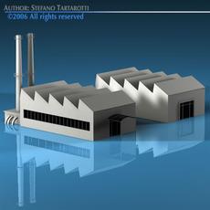 Stilizedcity-factory 3D Model
