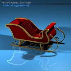 Santa Claus sled 3D Model