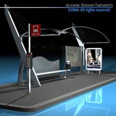 Bus stop 3 3D Model