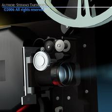 Film projector 3D Model