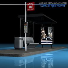 Bus stop2 3D Model