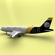 Airbus 319 US Airways 3D Model
