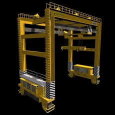 Rubber Tire Gantry Crane RTG 3D Model
