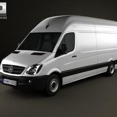Mercedes-Benz Sprinter PanelVan ExtralongWheelbase SuperHighRoof 2011 3D Model