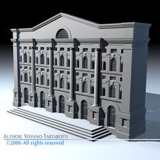Piazza affari 3D Model