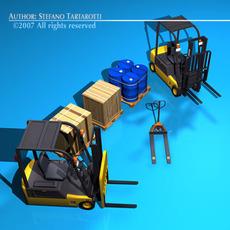 Forklift collection 3D Model