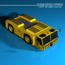 Airport tow tractor 3D Model