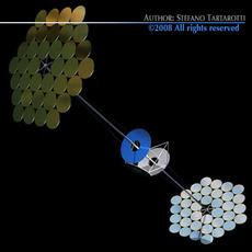 Space solar power station 3D Model