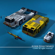Airport tow tractor collection 3D Model