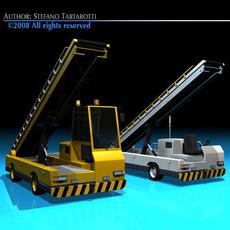 Airport baggage loader vehicle 3D Model