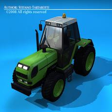 Farm tractor 3D Model
