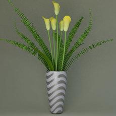 vase with colors (Flower) 3D Model
