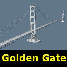 Golden Gate Bridge 3D Model