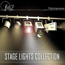 Stage lights - set 3D Model