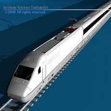 High speed train 3D Model