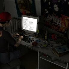 Hacker Room incl. Character 3D Model