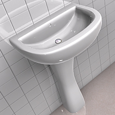 Sink Without Tap 3D Model
