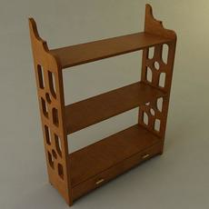 Knick Knack Shelf 3D Model