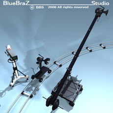 broadcast camera collection 3D Model