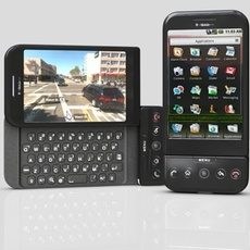 t-mobil G1 with android 3D Model