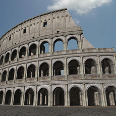 Colosseum Ruins 3D Model