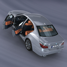 BMW M5 E60 *Rigged* 3D Model