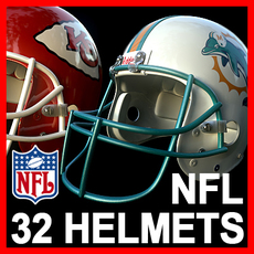 NFL Helmets Pack 3D Model
