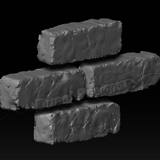 Handmade Bricks 3D Model