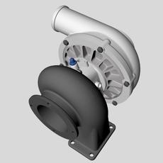 Turbocharger Unit 3D Model