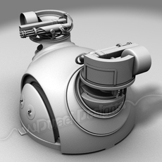 """M-24 Theater Automated Turret - """"Snake Eyes"""" 3D Model"""