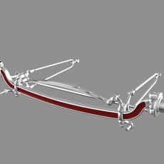 Vintage Dropped Beam Axle 3D Model