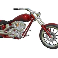 Custom Motorcycle 3D Model