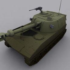 M109 SPH Artillery 3D Model