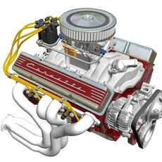 Chevrolet Small-Block V8 Engine 3D Model