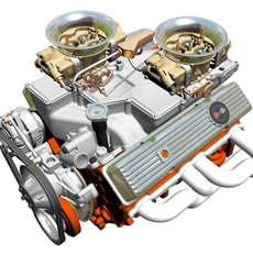 Cross-Ram Chevrolet Engine 3D Model