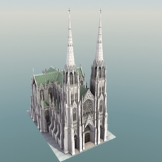 St Patricks Cathedral 3D model 3D Model