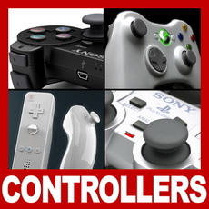 Controllers and Gamepads Pack 3D Model