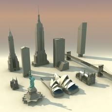 Landmarks Volume-01 3DModel Collection 3D Model