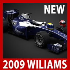 2009 F1 AT&T Williams Toyota FW31 3D Model