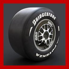 Ferrari F60 Wheel with Slicks 3D Model