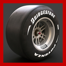 Formula 1 Slicks Wheel 3D Model