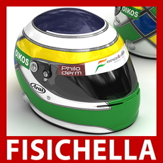 Giancarlo Fisichella F1 Helmet 3D Model