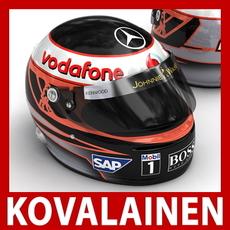 Heikki Kovalainen F1 Helmet 3D Model