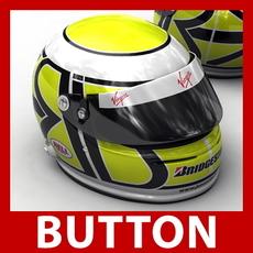 Jenson Button New F1 Helmet 3D Model