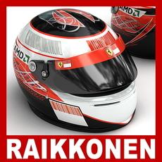 Kimi Raikkonen F1 Helmet 3D Model