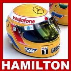 Lewis Hamilton F1 Helmet 3D Model